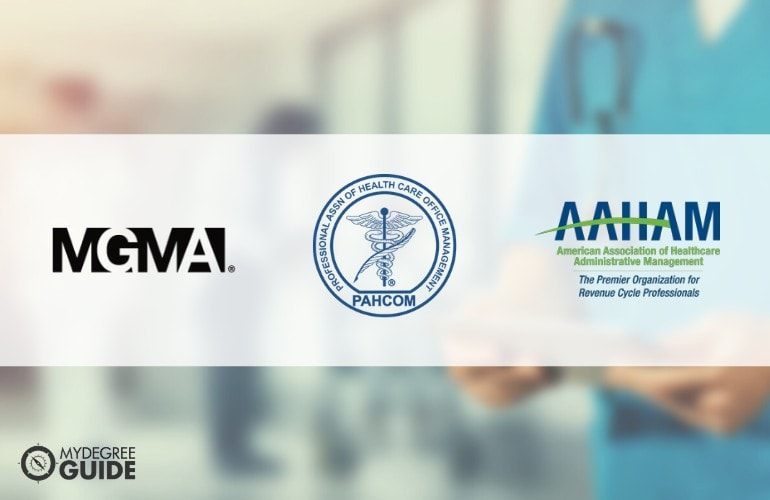 logos of Professional Organizations for Those with Degrees in Healthcare Management