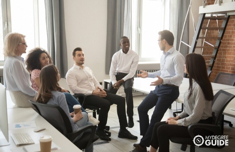 accountants in a meeting