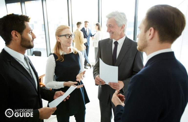 marketing professionals meeting at a seminar
