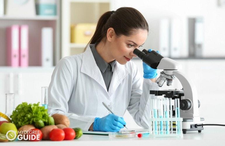food scientist working in her laboratory