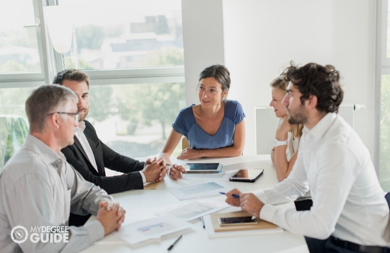 human resource managers in a meeting