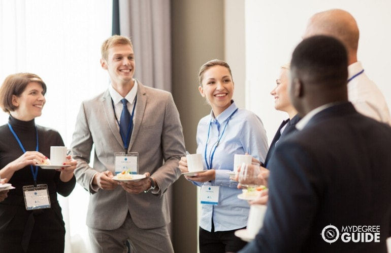 professionals meeting at a seminar