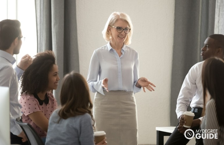 teaching professionals in a meeting
