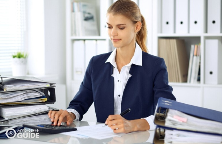 accountant working in the office
