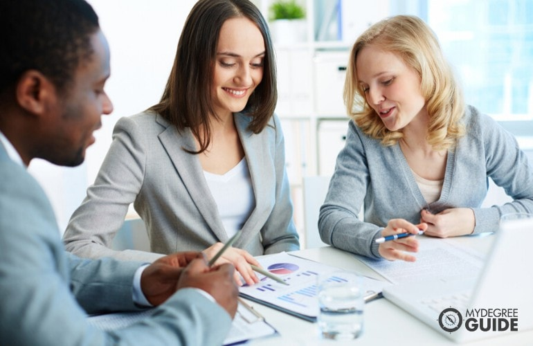 business administrators in a meeting