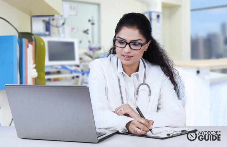 Health Information Technologist studying online