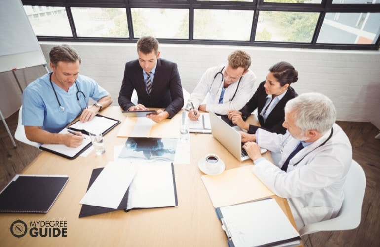 Healthcare Administrators having a meeting