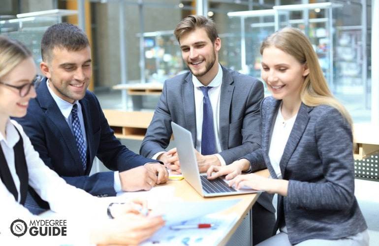 Business Intelligence Managers in a meeting