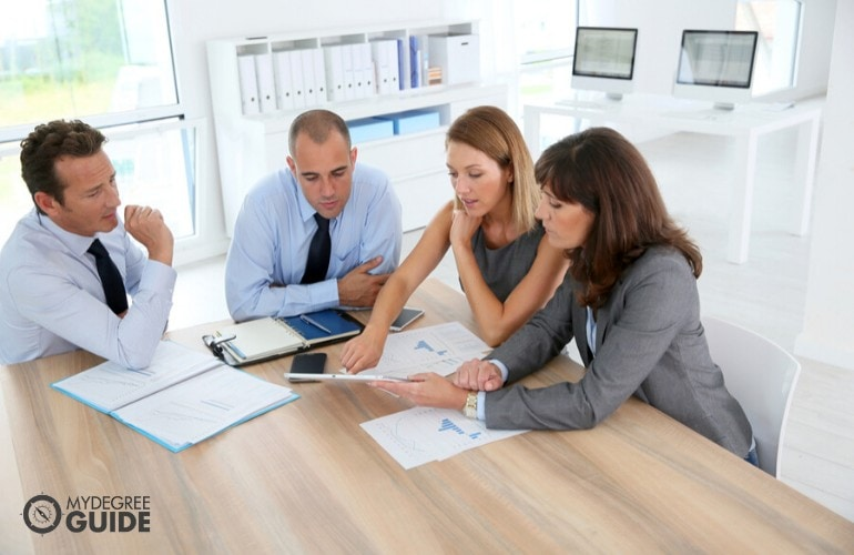 Project Managers meeting about a project