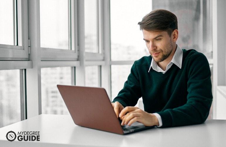 Organizational Leadership Degree student studying online