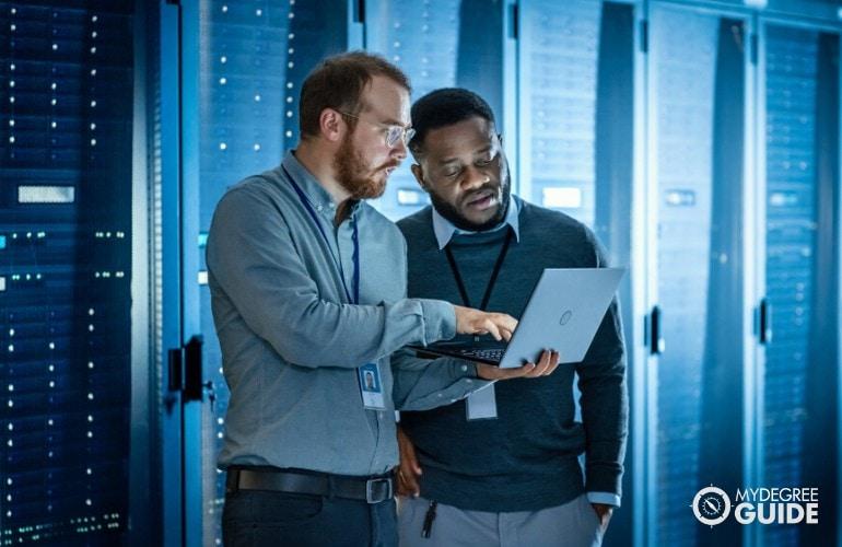 Software Engineers working in data room