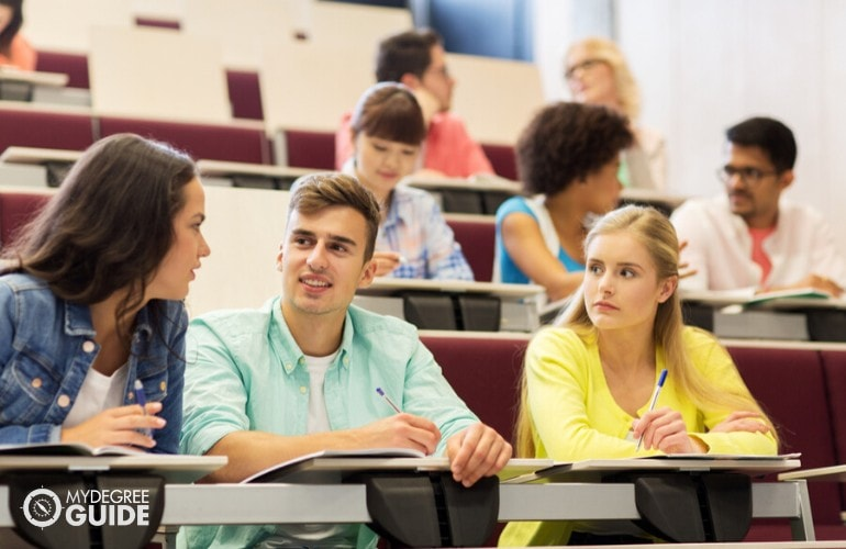 bachelors degree students in the classroom