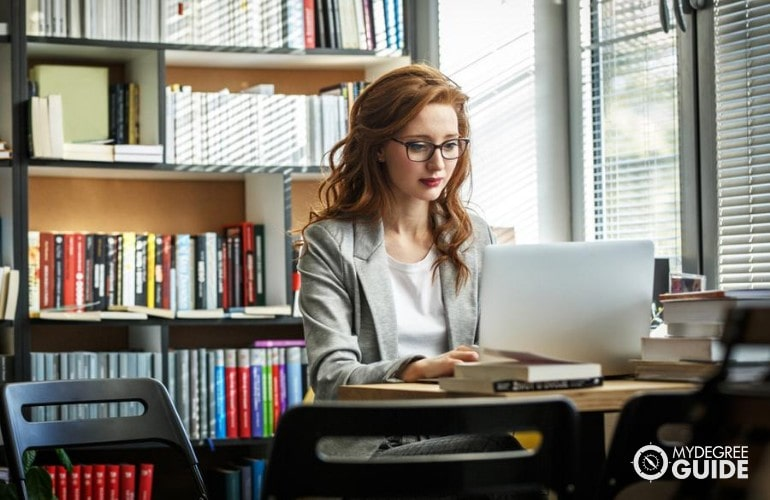 Masters in Organizational Leadership studying online at home