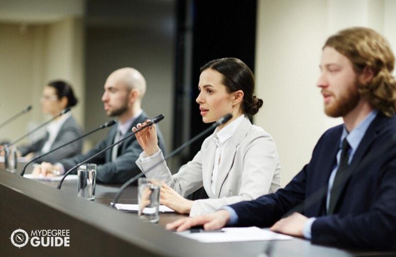 Public Administrators attending a seminar