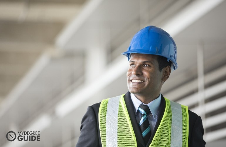 Industrial Engineer happily working