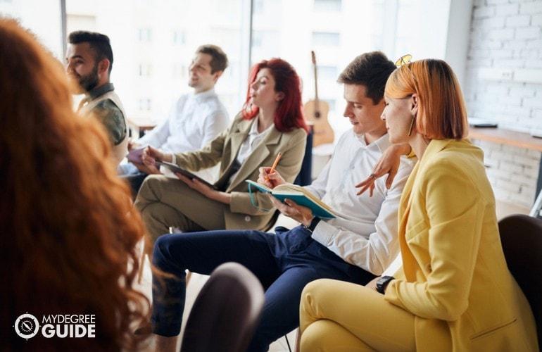 Educational Counselors attending a seminar