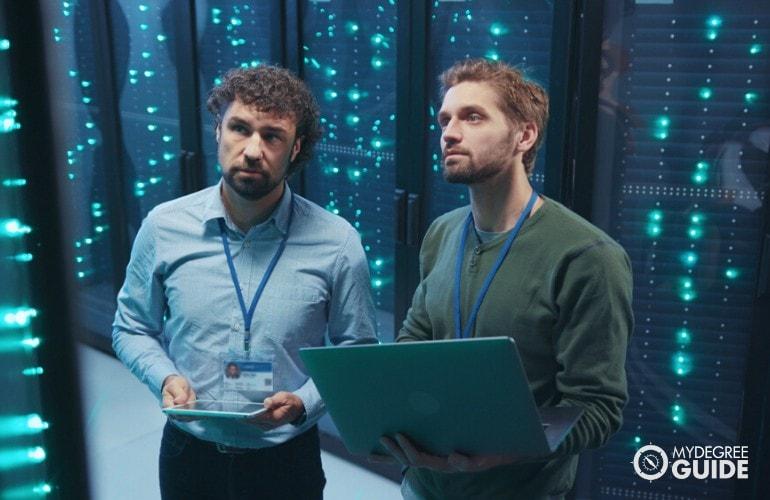 Database Administrators working in data center
