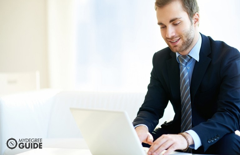 Masters in Education Administration researching online