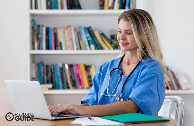 Master's in Nursing Education student studying online