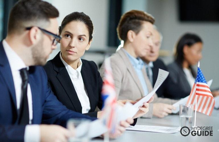 Political consultants attending a seminar