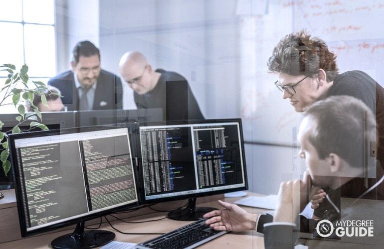 Web Developers working together