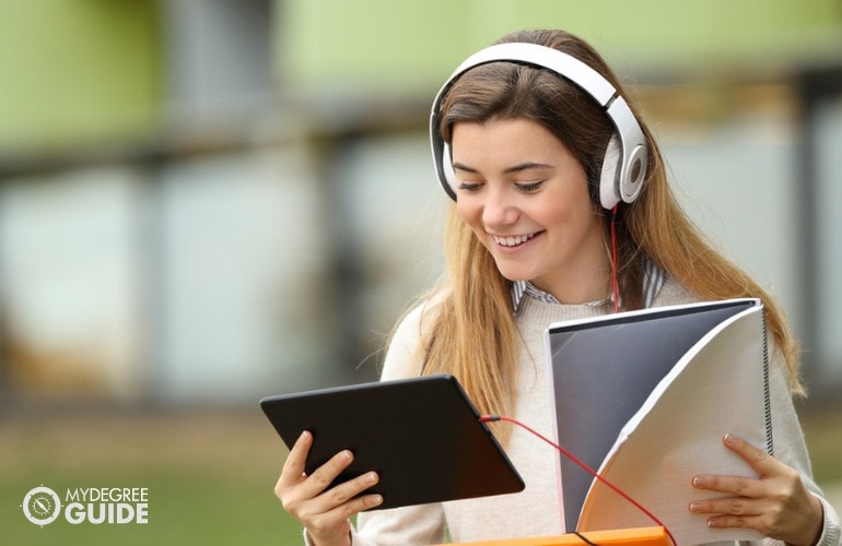 Masters in Ethnomusicology student studying online