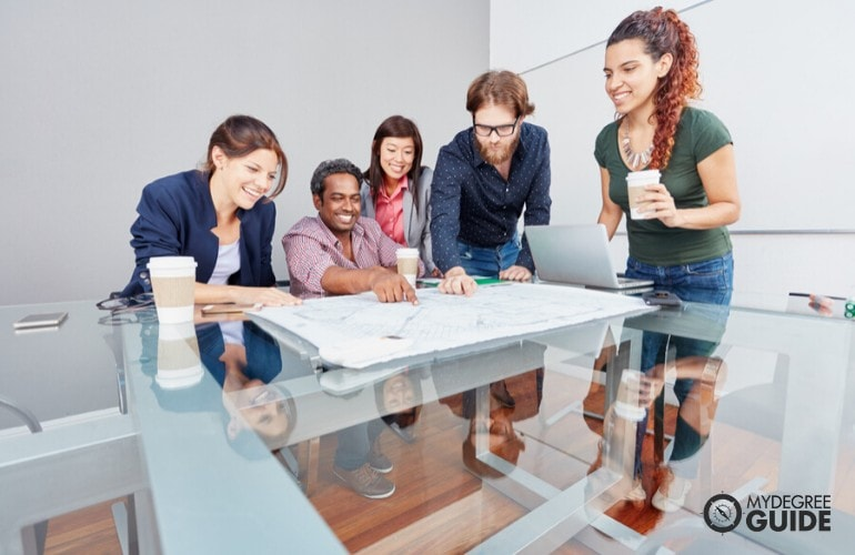 Advertising team planning during a meeting