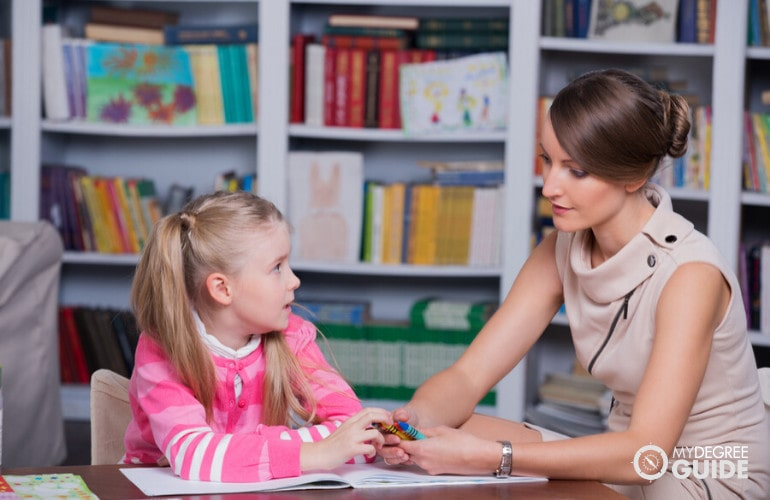 Child Psychologist with a child in her office