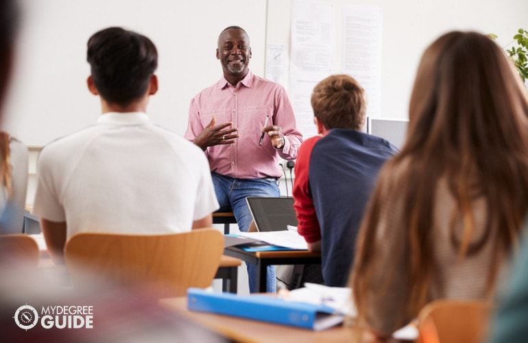 Political Science Postsecondary Teacher teaching in a university