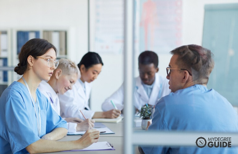 Medical staff in a meeting