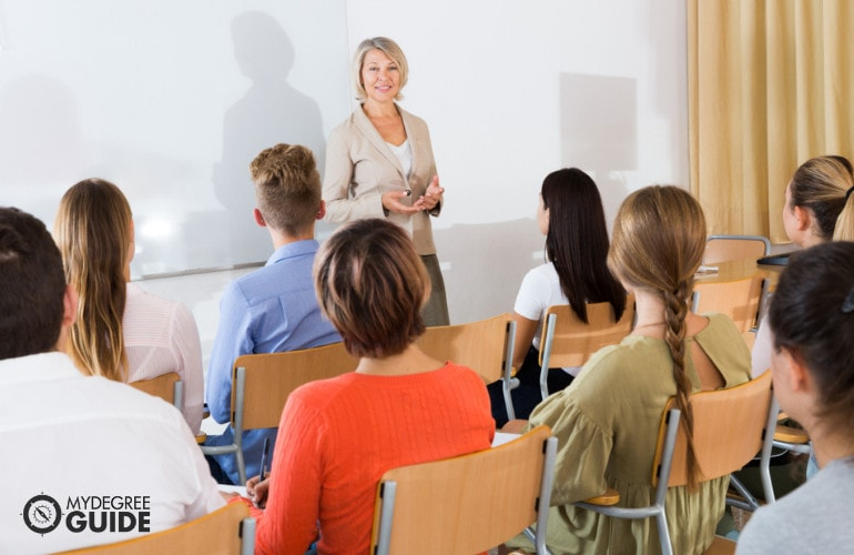 Forensic Psychology Professor teaching in a university