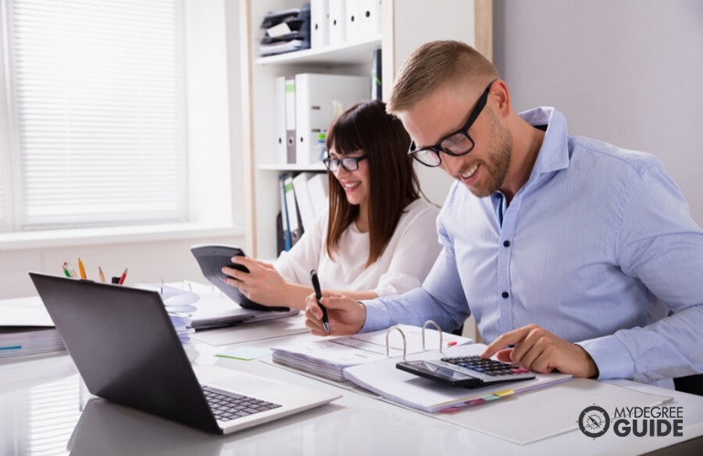 accountants working together