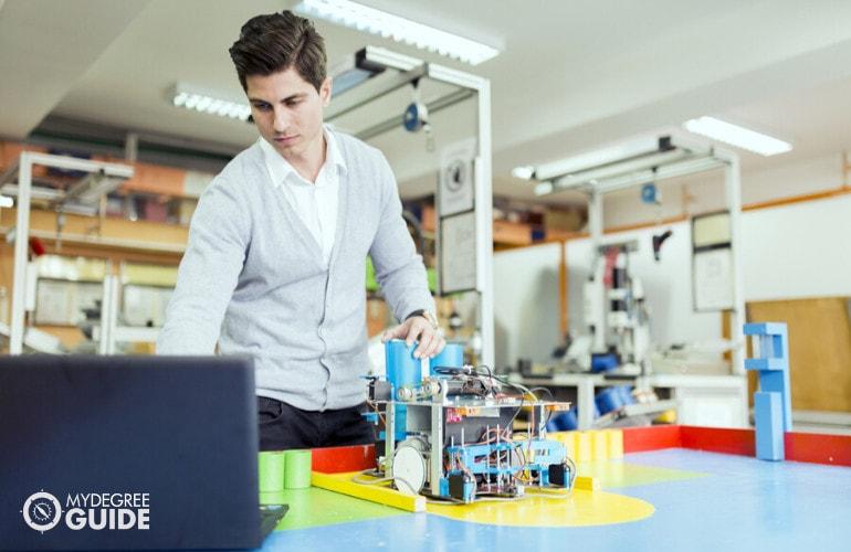 electronics engineering technician working