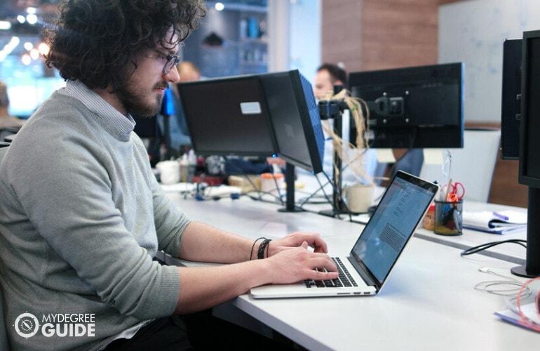 computer programmer working