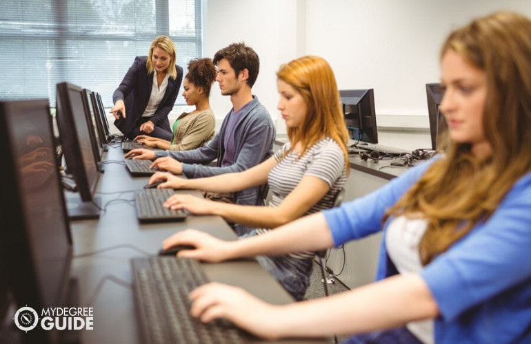 computer science students in university