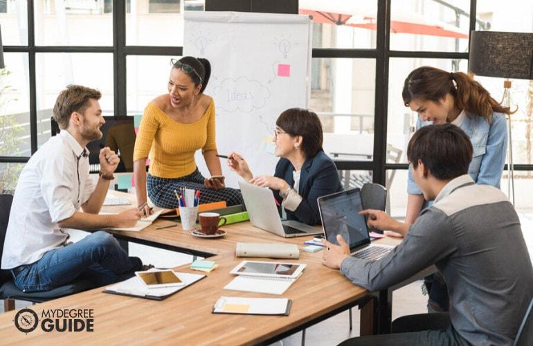 marketing team in meeting