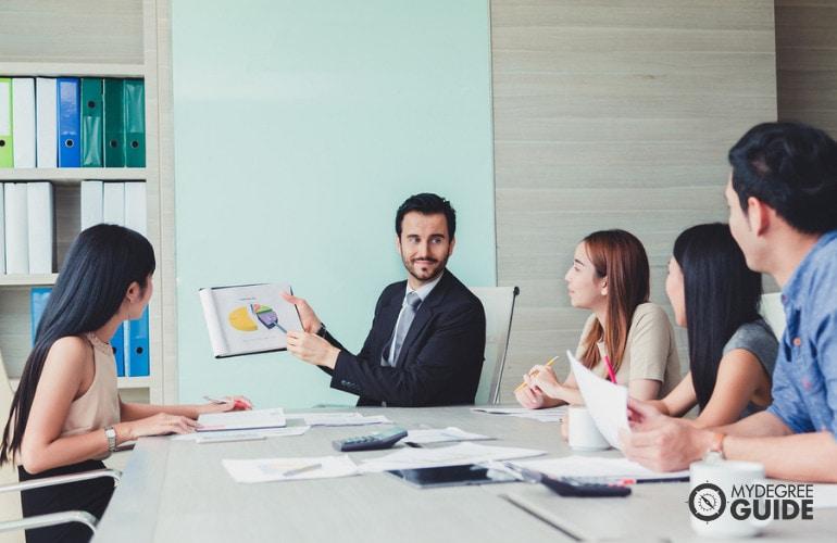 advertising team in meeting