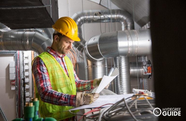 Environmental Engineer working