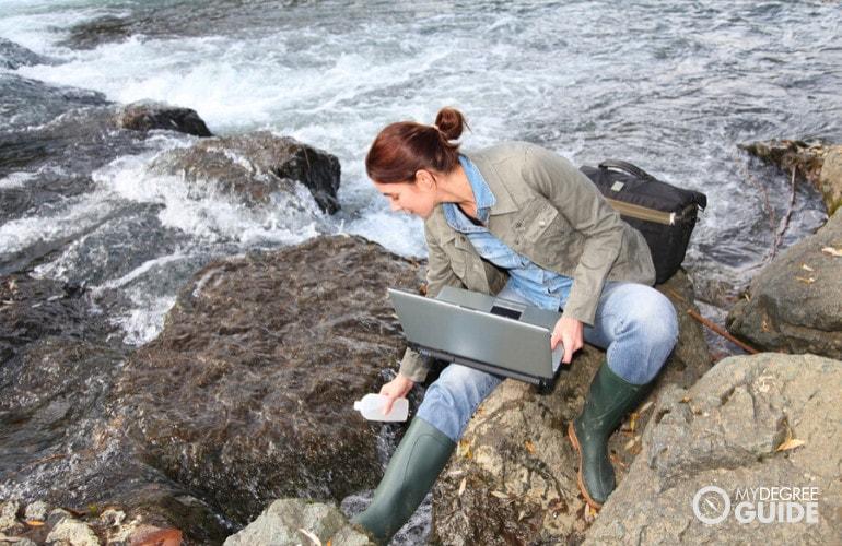 Environmental Engineer at work