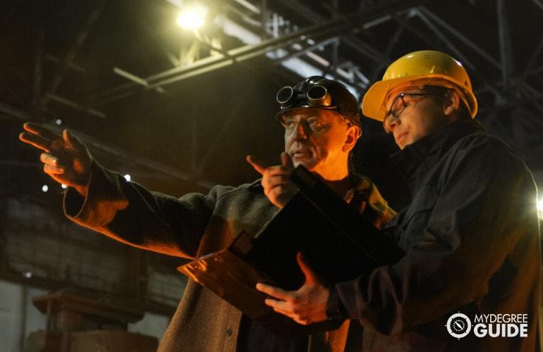 Industrial Engineers working