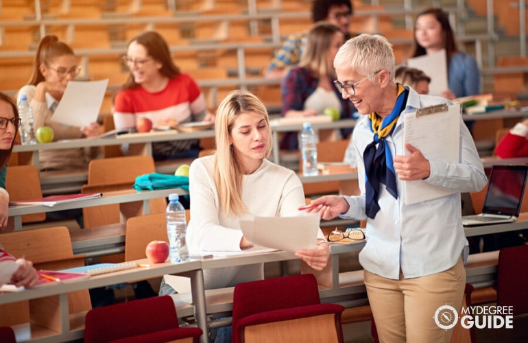 Sociology Professor teaching