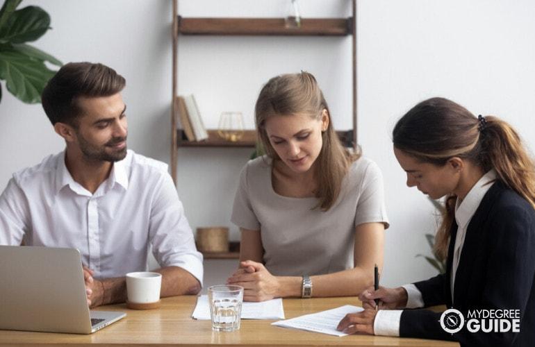 social workers in meeting