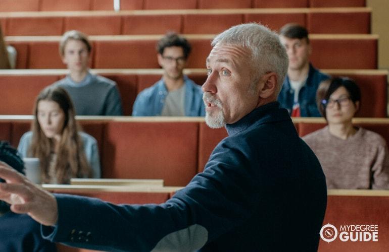 Sociology Professor teaching in university